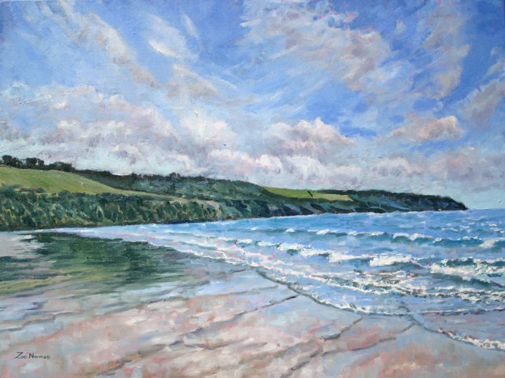 """Painting titled """"Sea Breeze"""" by Zoe Norman, Original Art, Oil Mounted on Stretcher frame"""