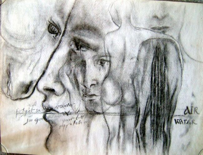 """Drawing titled """"Study"""" by Zo, Original Art, Other"""