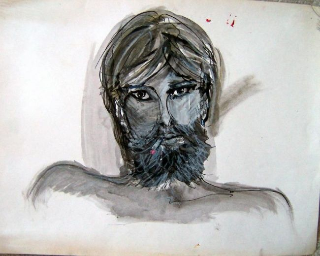 """Drawing titled """"Misha"""" by Zo, Original Art, Other"""