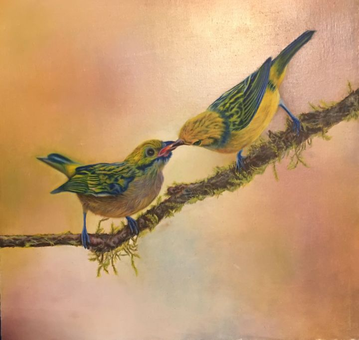 """Painting titled """"Endless kind"""" by Zohreh.A, Original Art, Oil"""