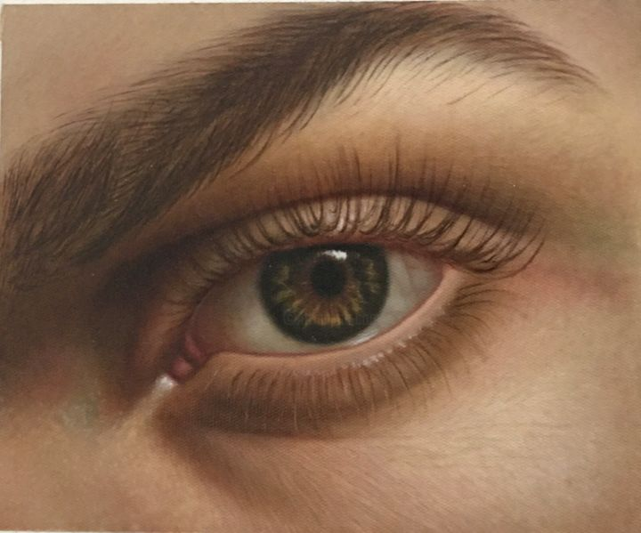 """Painting titled """"Truth in the eyes"""" by Zohreh.A, Original Art, Oil"""
