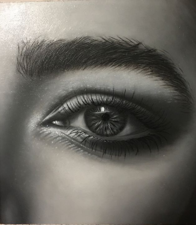 """Painting titled """"Your eye"""" by Zohreh.A, Original Art, Oil"""