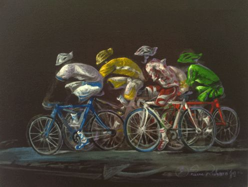 tour-de-france.gif - Peinture,  10,6x13,8 in, ©2013 par Zomo -