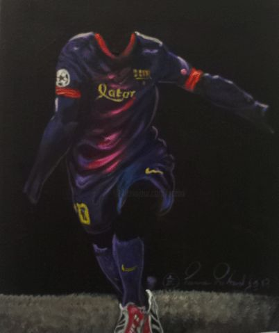 blaugrana.gif - Painting,  10.6x8.7 in, ©2013 by Zomo -
