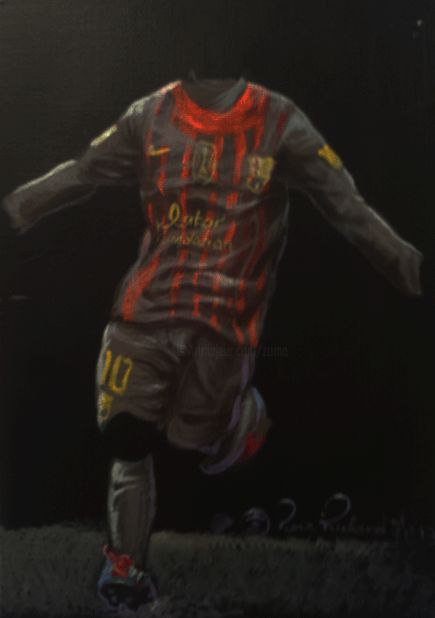 culé.gif - Painting,  10.6x8.7 in, ©2013 by Zomo -