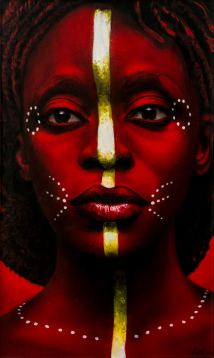 """Painting titled """"Nubia"""" by Zone56, Original Art, Spray paint"""