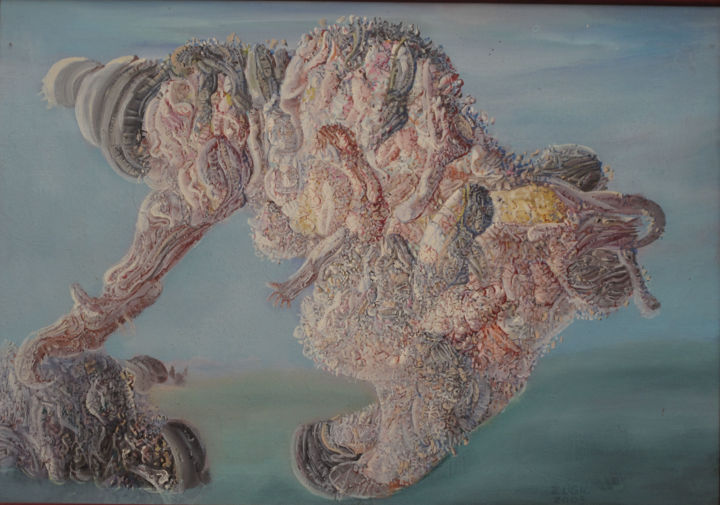"""Painting titled """"THE  CLOWN"""" by Zoran Zugic, Original Art, Oil Mounted on Stretcher frame"""