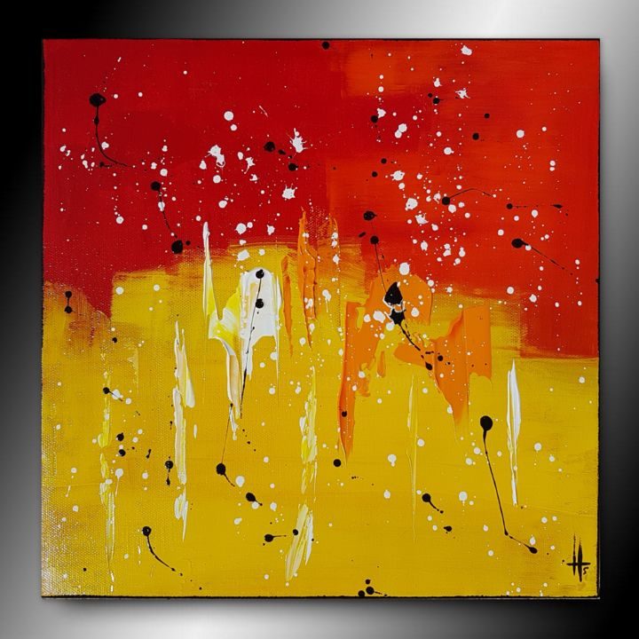 Tableau abstrait peinture contemporain color sandrine for Tableau contemporain abstrait