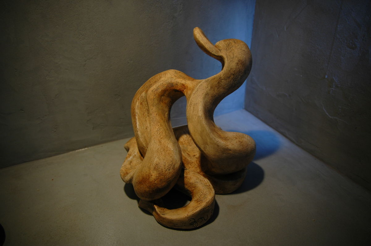 L'Envol - Sculpture,  23x24x20 cm ©2011 by ZOU -            sculpture canard