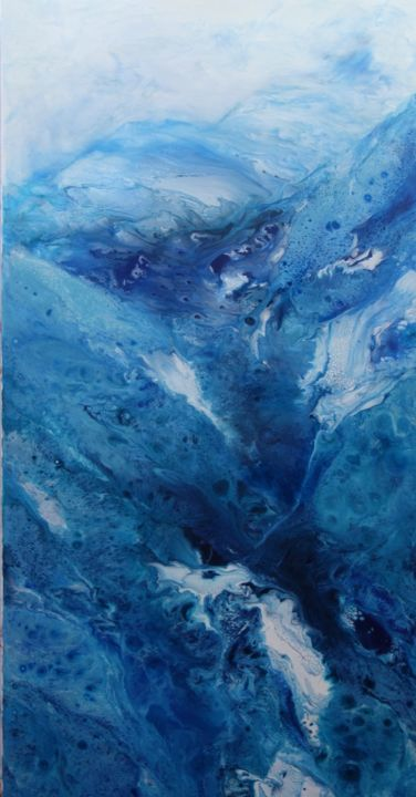 Glacier - Peinture,  47,2x23,6x1 in, ©2018 par Zdenka Palkovic -                                                                                                                                                                          Abstract, abstract-570, Art abstrait