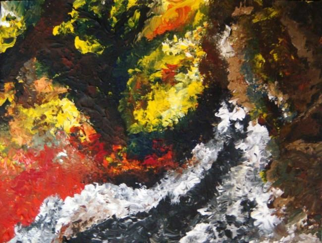 """Painting titled """"Abstract Scenery"""" by Zying Chai, Original Art,"""
