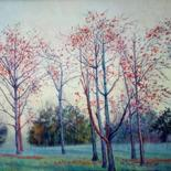 """Painting titled """"A tree symbol of lo…"""" by Abid Khan, Original Art, Oil"""