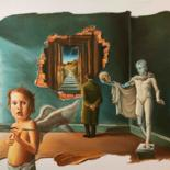 """Painting titled """"Just an illusion"""" by Adina Lupan, Original Art, Oil"""