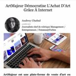Artmajeur on Forbes Home page