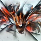 Painting, spray paint, abstract, artwork by Airgone
