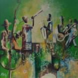 """Painting titled """"Jazz"""" by Ako Wilson, Original Art, Acrylic Mounted on Stretcher frame"""