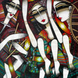 Musicians Painting, oil, figurative, artwork by Albena Vatcheva (ALBENA)