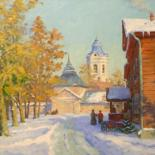 """Painting titled """"Red hotel"""" by Alexander Alexandrovsky, Original Art,"""