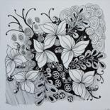 Ink drawing by Claudette Allosio