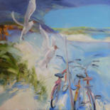 """Painting titled """"Wind from the sea."""" by Galina Anisimova, Original Art, Oil Mounted on Stretcher frame"""