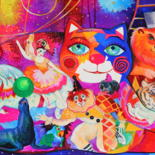 Art disponible( Chats,cats,gatos,katzen,gattos) by Oxana Zaika