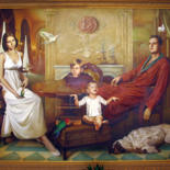 78.7x106.3x2 in ©1998 by Sergey and  Vera