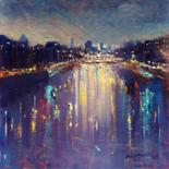 On the River Liffey.  (All Originals Sold ) Prints Available by BILL O'BRIEN