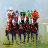 Horse Racing (All Originals Sold ) Prints Available by BILL O'BRIEN