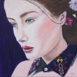 """Painting titled """"Madame rêve"""" by Camille Carreau, Original Art, Acrylic"""