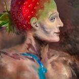 """Painting titled """"The Actor-Strawberry"""" by Carola Eleonore Thiele, Original Art, Digital Painting"""