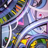 """Painting titled """"Rouages"""" by Catb, Original Art, Acrylic"""