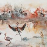 Painting, watercolor, figurative, artwork by Catherinesaintfontaine