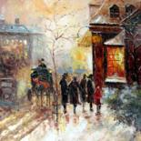 Painting, oil, impressionism, artwork by Lermay Chiang