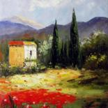 """Painting titled """"Tuscany 016"""" by Lermay Chiang, Original Art, Oil Mounted on Stretcher frame"""