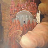 """Painting titled """"Orphee ou La porte…"""" by Charles Andraos, Original Art, Oil"""