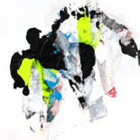 Painting, collages, abstract, artwork by Christophe Houllier