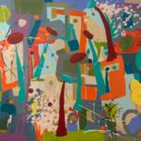 """Painting titled """"Jardin tropical"""" by Clr, Original Art, Acrylic"""