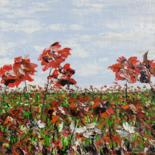 """Painting titled """"A day in the meadow"""" by Daniel Urbaník, Original Art, Oil"""