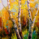 """Painting titled """"Birch"""" by Olha, Original Art, Oil"""