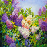 """Painting titled """"Fragrance of lilac"""" by Olha, Original Art, Oil"""