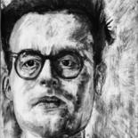 """Drawing titled """"Portrait of a Young…"""" by Digby Chacksfield, Original Art, Charcoal"""