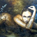 """Painting titled """"Offrande"""" by Isabelle Charmot, Original Art, Oil"""