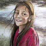 Drawing, pastel, figurative, artwork by Isabelle Charmot