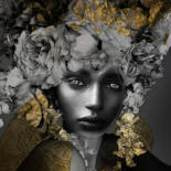portraits with gold or silver tones by Dodi Ballada