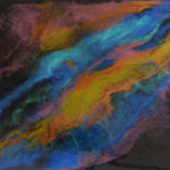 Painting, resin, abstract, artwork by Dorianne Delage