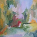 """Painting titled """"buisson-rouge-40-x-…"""" by Elinel, Original Art, Acrylic"""