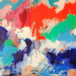 Bright, emotional, positive, vibrant, happy abstract and figurative art. Ready and on commission. by Elisaveta Sivas
