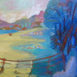 Abstracted from Plein Air Painting by Georgina Rey