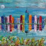 """Painting titled """"Architecture"""" by Gilbert Morales, Original Art, Acrylic"""