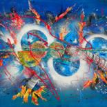 Painting, acrylic, abstract, artwork by Gilbert Morales